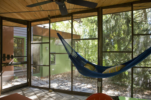 Hammock in the screened porch.