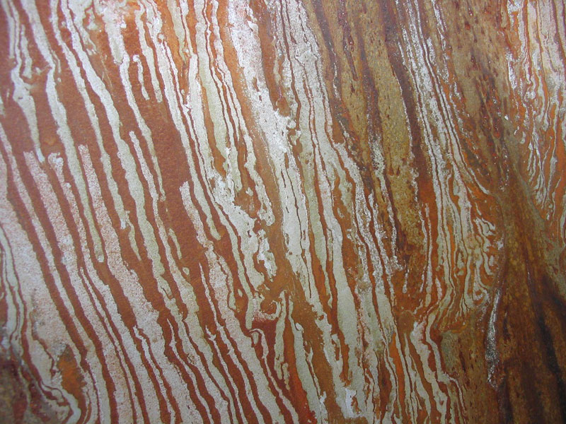 Striated copper plate