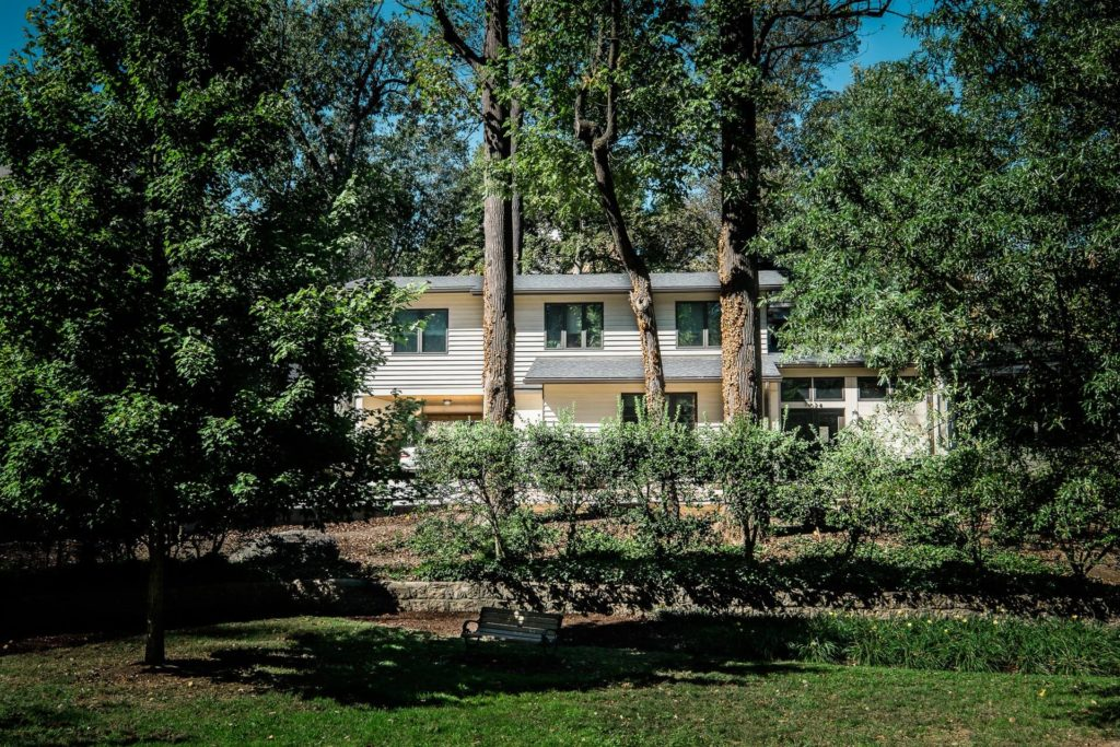 Front-view-Accessible-home-for-retired-couple-Chevy-Chase-MD
