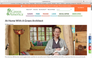 Bill Hutchins featured in Green America