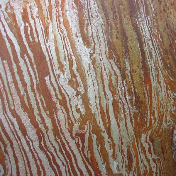Striated copper plate